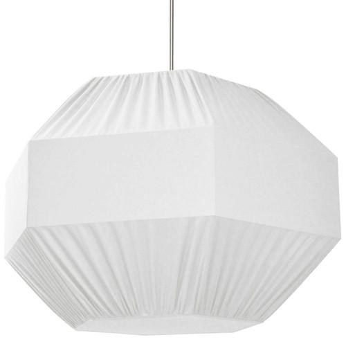 Dainolite Lighting  SAG-L-WH 4 Light Sage Pendant White Shade,Fabric Diffuser,Large Polished Chrome