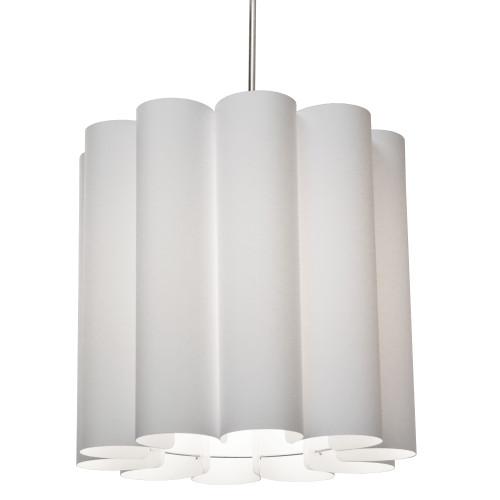 Dainolite Lighting  SAN201-PC-2400 1 Light Sandra Pendant Milano White Polished Chrome