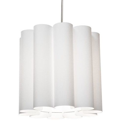 Dainolite Lighting  SAN201-PC-790 1 Light Sandra Pendant JTone White, Polished Chrome