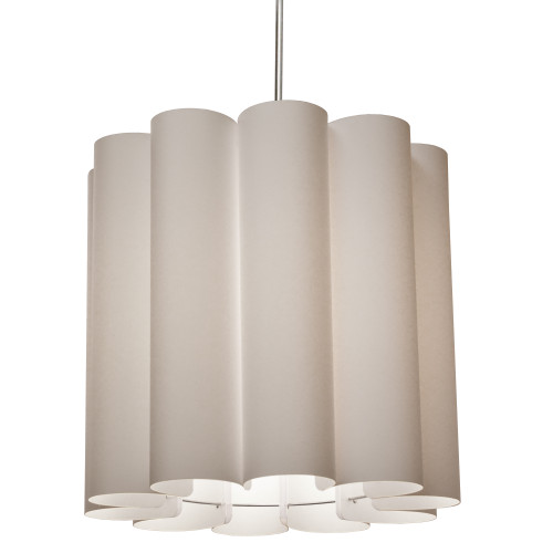 Dainolite Lighting  SAN201-PC-838 1 Light Sandra Pendant SGlow Latte Polished Chrome