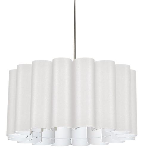 Dainolite Lighting  SAN244-PC-2400 4 Light Sandra Pendant Milano White Polished Chrome