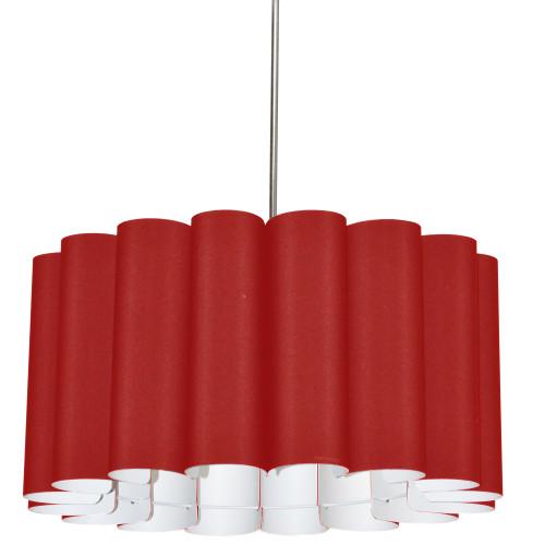 Dainolite Lighting  SAN244-PC-795 4 Light Sandra Pendant JTone Red Polished Chrome