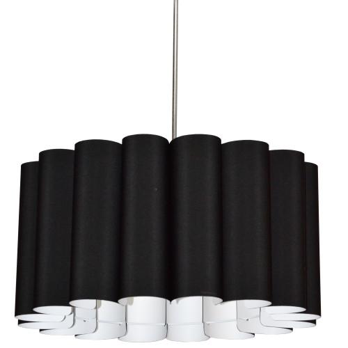Dainolite Lighting  SAN244-PC-797 4 Light Sandra Pendant JTone Black Polished Chrome