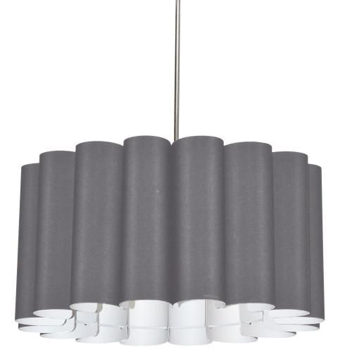 Dainolite Lighting  SAN244-PC-835 4 Light Sandra Pendant SGlow Grey Polished Chrome