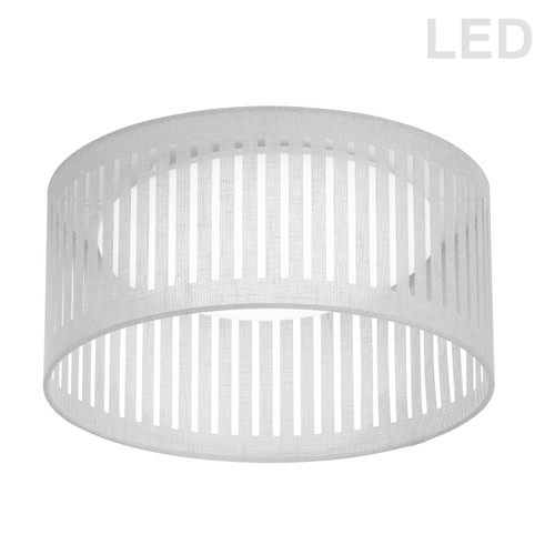 Dainolite Lighting  SDLED-15FH-WH LED Flush Mount, Slit Drum Shade, White
