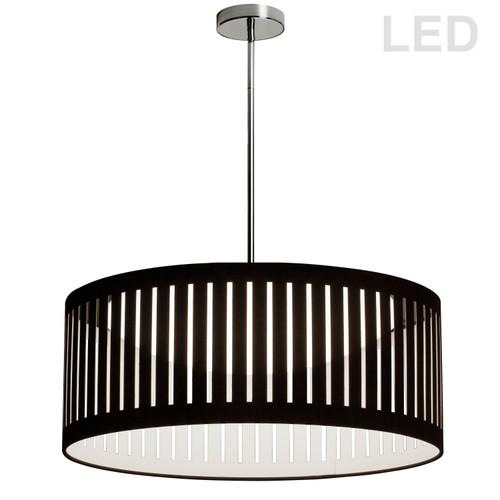 Dainolite Lighting  SDLED-20P-BK LED Slit Drum Shade, Black