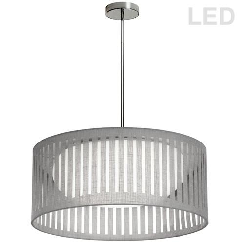Dainolite Lighting  SDLED-20P-GRY LED Slit Drum Shade, Grey