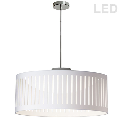 Dainolite Lighting  SDLED-20P-WH LED Slit Drum Shade, White