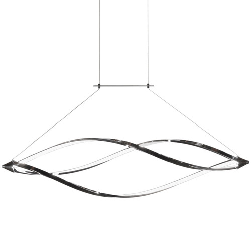 Dainolite Lighting  SEL-43HP-PC 37 Watts LED Horizontal Pendant with Swooped Arms, Polished Chrome Finish