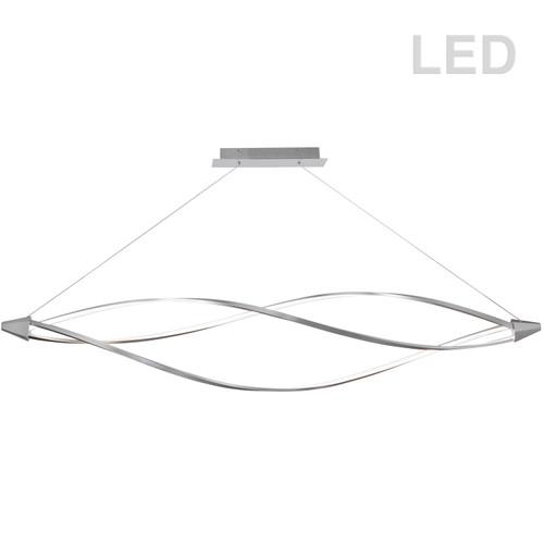 Dainolite Lighting  SEL-72HP-SC 53W LED Horizontal Pendant, Satin Chrome Finish