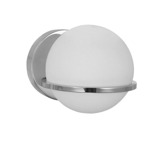 Dainolite Lighting  SOF-61W-PC 1 Light Halogen Wall Sconce, Polished Chrome with White Glass