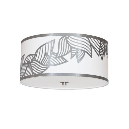 Dainolite Lighting  SOP-153FH-PC-SV 3 Light Flush Mount Polished Chrome Silver and White Shade