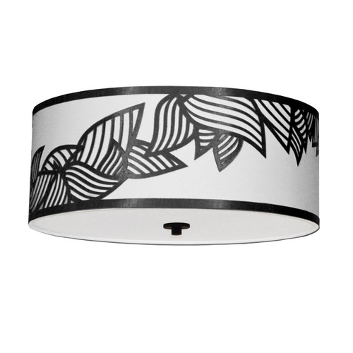 Dainolite Lighting  SOP-184FH-PC-BW 4 Light Flush Mount Polished Chrome Black and White Shade