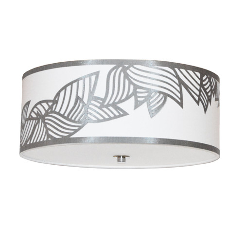 Dainolite Lighting  SOP-184FH-PC-SV 4 Light Flush Mount Polished Chrome Silver and White Shade