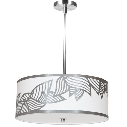 Dainolite Lighting  SOP-194P-PC-SV 4 Light Pendant Polished Chrome Silver and White Shade
