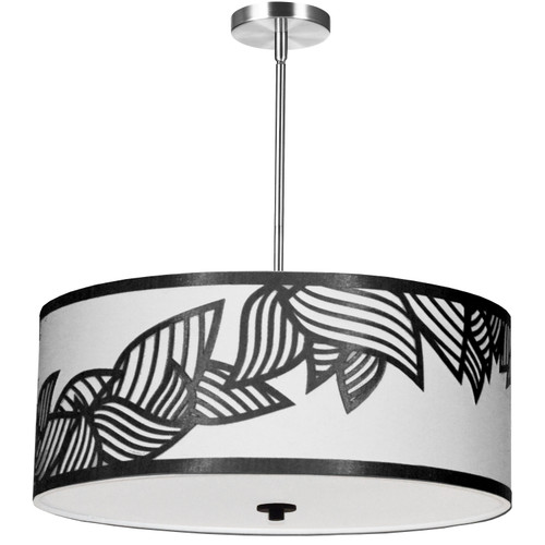 Dainolite Lighting  SOP-244P-PC-BW 4 Light Pendant Polished Chrome Black and White Shade