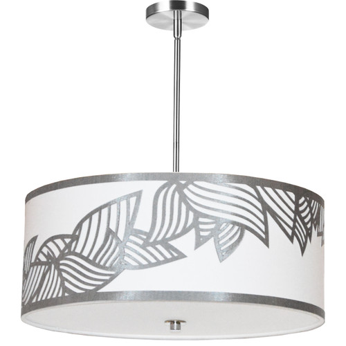 Dainolite Lighting  SOP-244P-PC-SV 4 Light Pendant Polished Chrome Silver and White Shade