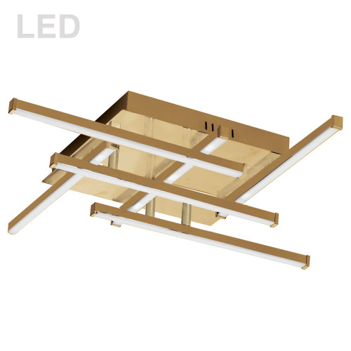 Dainolite Lighting  SUM-2020FH-AGB 20W LED Flush Mount, Aged Brass with White Acrylic Diffuser