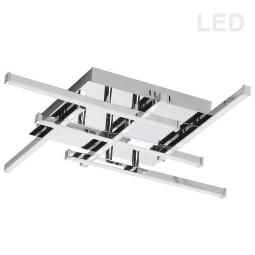 Dainolite Lighting  SUM-2020FH-PC 6 Light LED Flush Mount, Polished Chrome Finish