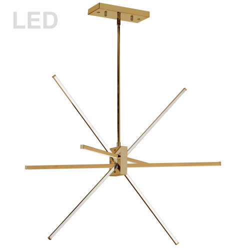 Dainolite Lighting  SUM-34P-AGB, 46W LED Aged Brass Pendant with White Acrylic Diffuser