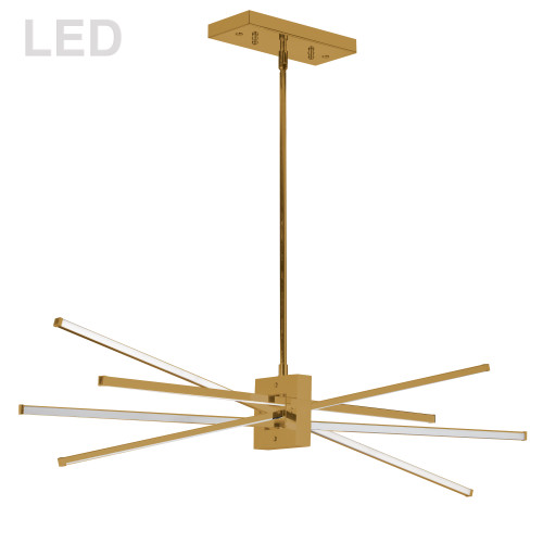 Dainolite Lighting  SUM-35HP-AGB 46W Horizontal Pendant, Aged Brass with White Diffuser