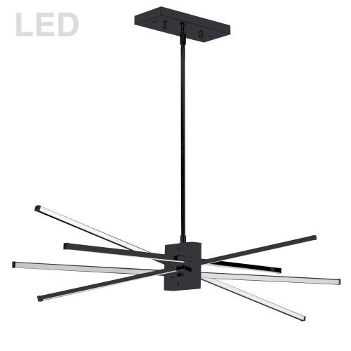 Dainolite Lighting  SUM-35HP-MB 46W LED Horizontal Pendant Matte Black with White Acrylic Diffuser