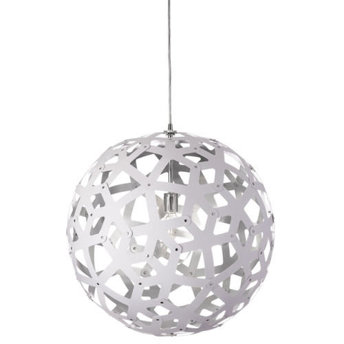 Dainolite Lighting  TAL-221P-691 1 Light Kirigami Pendant, Polished Chrome, White on Silver Shade