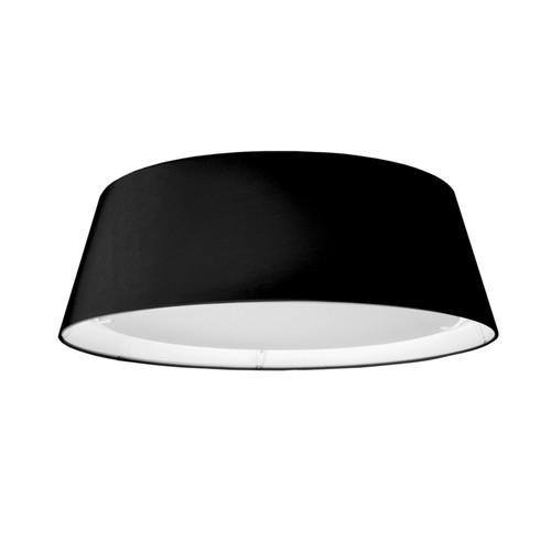 Dainolite Lighting  TDLED-17FH-BK LED Flush Mount, Tapered Drum Shade, Black