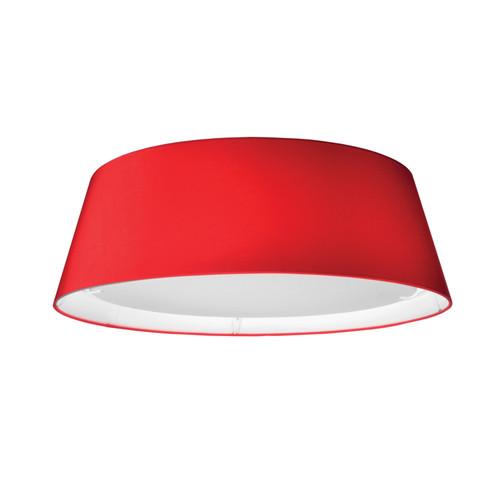 Dainolite Lighting  TDLED-17FH-RD LED Flush Mount, Tapered Drum Shade, Red
