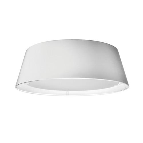 Dainolite Lighting  TDLED-17FH-WH LED Flush Mount, Tapered Drum Shade, White
