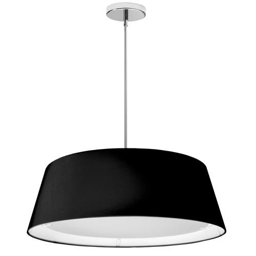 Dainolite Lighting  TDLED-24LP-BK LED Tapered Drum Shade, Black