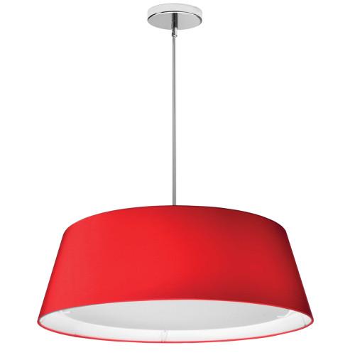 Dainolite Lighting  TDLED-24LP-RD LED Tapered Drum Shade, Red
