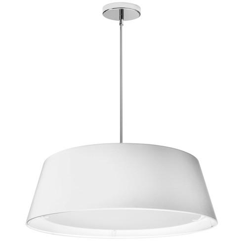 Dainolite Lighting  TDLED-24LP-WH LED Tapered Drum Shade, White
