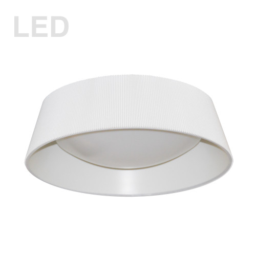 Dainolite Lighting  THLED-16FH-WH 14W Thea Flush Mount with White Shade
