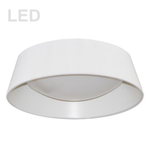 Dainolite Lighting  THLED-18FH-WH 22W Thea Flush Mount with White Shade