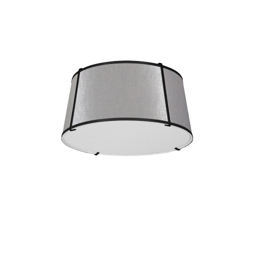 Dainolite Lighting  TRA-3FH-BK-GRY 3 Light Trapezoid Flush Mount Black Grey Shade with 790 Diffuser