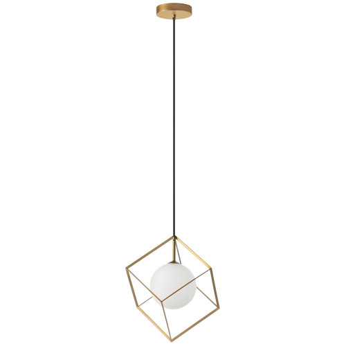 Dainolite Lighting  TSN-1P-GLD 1 Light Halogen Pendant Gold Finish