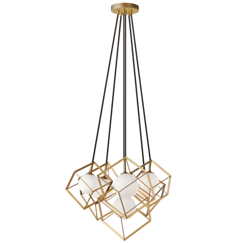 Dainolite Lighting  TSN-6P-GLD 6 Light Halogen Pendant Gold Finish
