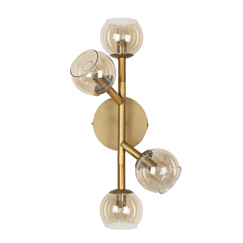 Dainolite Lighting  TWD-174W-VB 4 Light Halogen Wall Sconce Vintage Bronze Finish with Champagne Glass