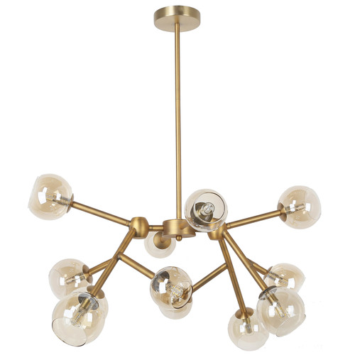 Dainolite Lighting  TWD-4012C-VB 12 Light Halogen Chandelier, Vintage Bronze Finish with Champagne Glass