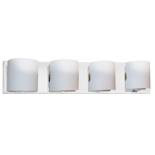 Dainolite Lighting  V030-4W-PC 4 Light Vanity Fixture, Polished Chrome, White Frosted Glass