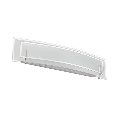 Dainolite Lighting  V034-3W-SC 3 Light Vanity, Satin Chrome, Clear Frosted Glass with Frosted Bottom Diffuser