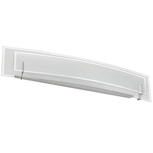 Dainolite Lighting  V034-4W-SC 4 Light Vanity, Satin Chrome Finish, Clear Frosted Glass with Frosted Bottom Diffuser