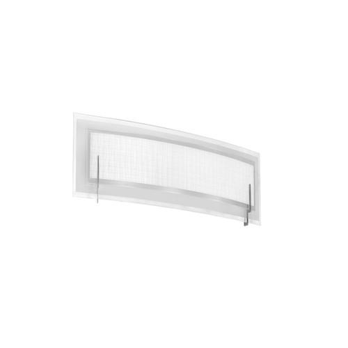 Dainolite Lighting  V038-1W-SC 1 Light Vanity, Satin Chrome, Frosted Glass & Linen Glass