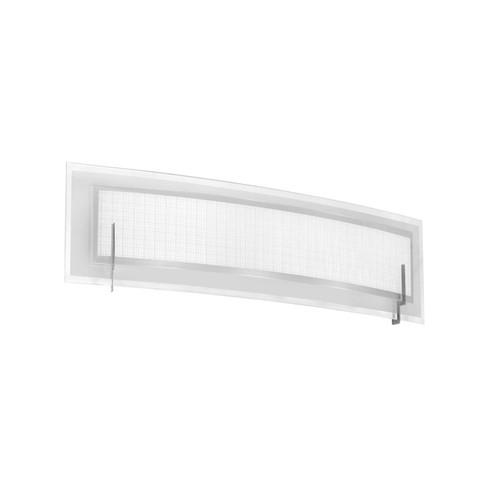 Dainolite Lighting  V038-2W-SC 2 Light Vanity, Satin Chrome, Frosted Glass & Linen Glass