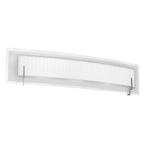 Dainolite Lighting  V038-3W-SC 3 Light Vanity, Satin Chrome, Frosted Glass & Linen Glass