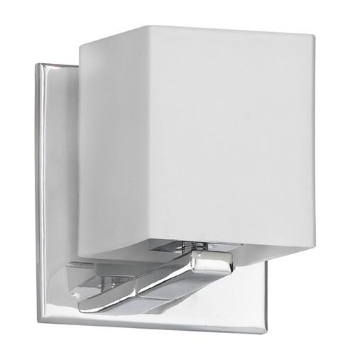 Dainolite Lighting  V1230-1W-PC 1 Light Sconce, Polished Chrome, Frosted White Glass