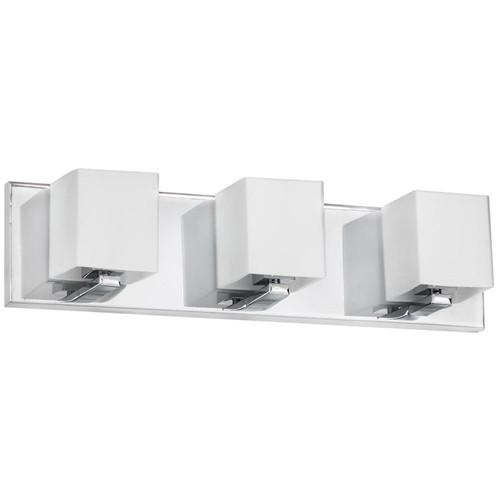 Dainolite Lighting  V1230-3W-PC 3 Light Vanity, Polished Chrome, Frosted White Glass