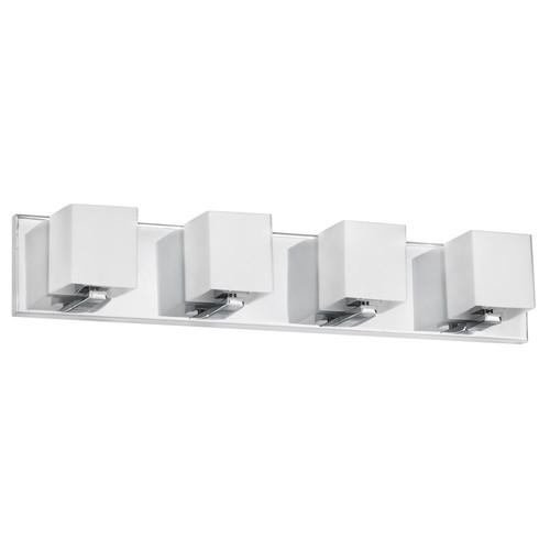 Dainolite Lighting  V1230-4W-PC 4 Light Vanity, Polished Chrome, Frosted White Glass