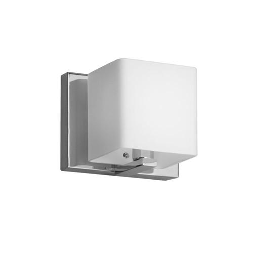 Dainolite Lighting  V1233-1W-PC 1 Light Vanity, Polished Chrome, Frosted White Glass Shade
